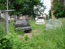 Once a single car is dumped in a vacant lot it can attract other abandoned vehicles and illegal dumping.