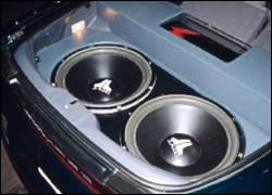 Boom car's trunk speakers