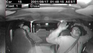 Security cameras in taxis can capture robberies in progress.